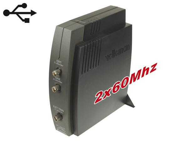 Snap On Digital Storage Oscilloscope : Velleman two channel usb pc oscilloscope pcsu